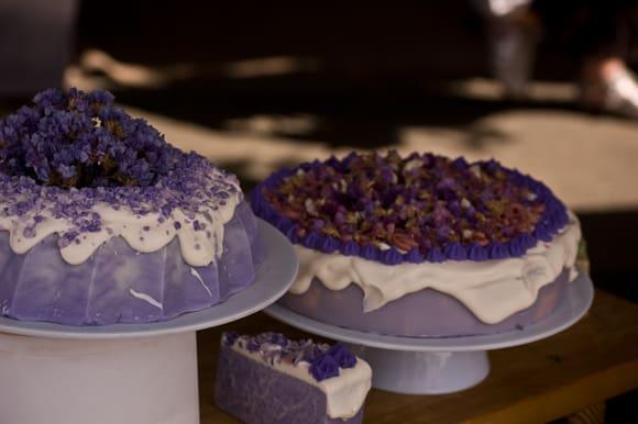 Lavendar cakes
