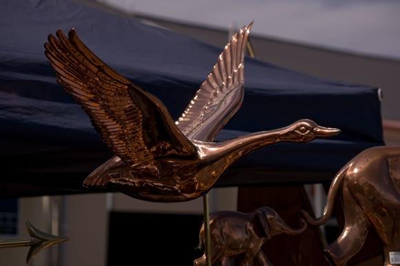 Brass weathervane