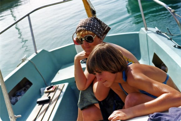Mum and I on boat