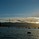 Akaroa Harbour in the evening sun