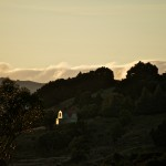 Evening Sun on Dutch Barn House, Akaroa
